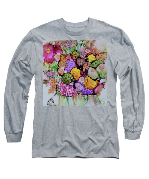 Bouquet Of Blooms Long Sleeve T-Shirt by Joanne Smoley