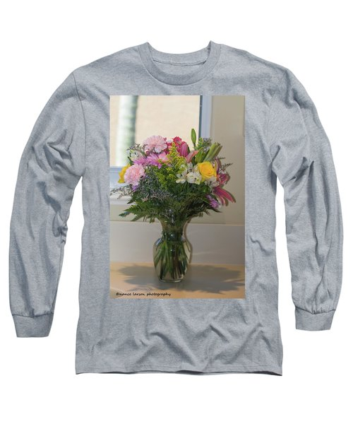 Bouquet Of Flowers Long Sleeve T-Shirt by Nance Larson