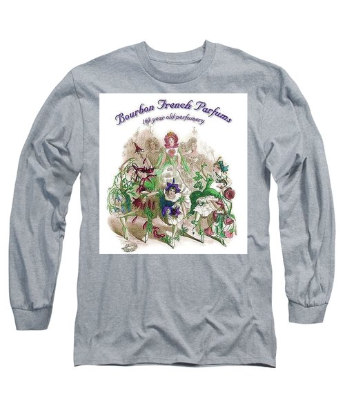 Long Sleeve T-Shirt featuring the digital art Bourbon French Perfume by ReInVintaged