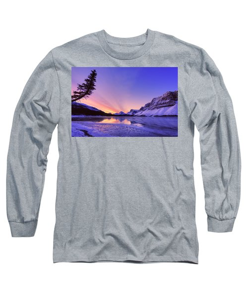 Bow Lake And Pine Long Sleeve T-Shirt
