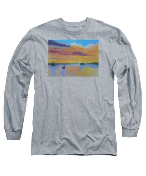 Bow Lake Ice Fishing Long Sleeve T-Shirt