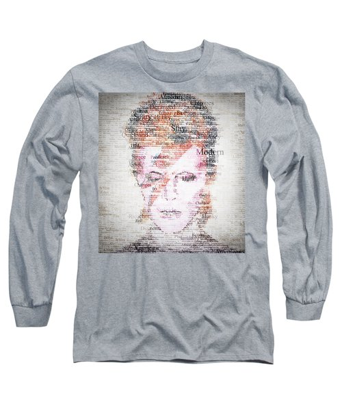Bowie Typo Long Sleeve T-Shirt