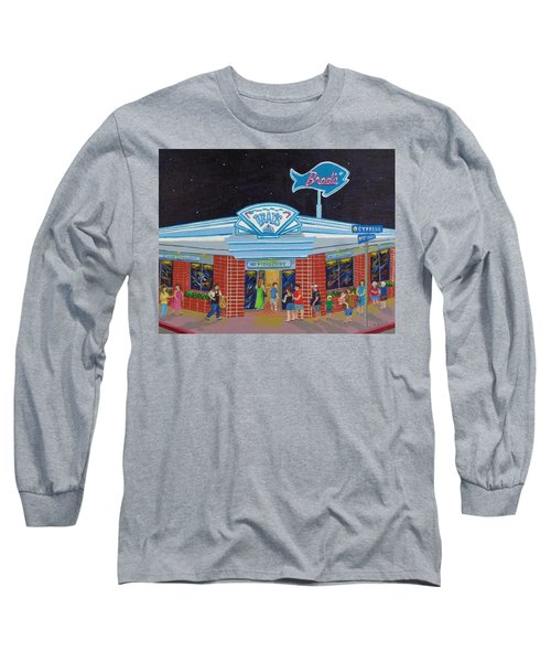 Long Sleeve T-Shirt featuring the painting Brad's Pismo Beach California by Katherine Young-Beck