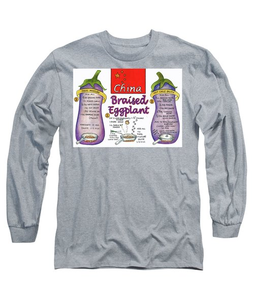 Braised Eggplant Long Sleeve T-Shirt