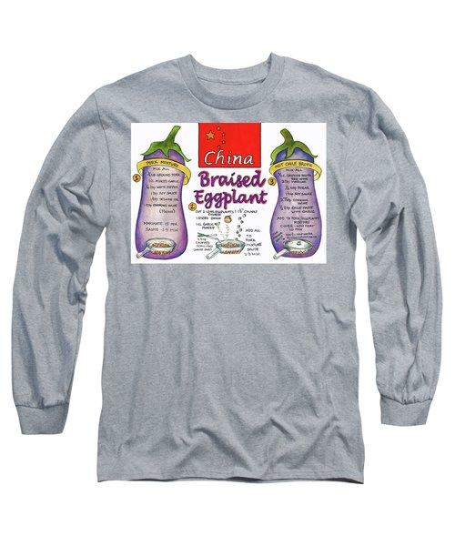 Braised Eggplant Long Sleeve T-Shirt