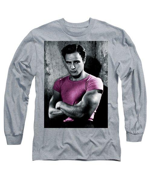 Brando In Pink Long Sleeve T-Shirt