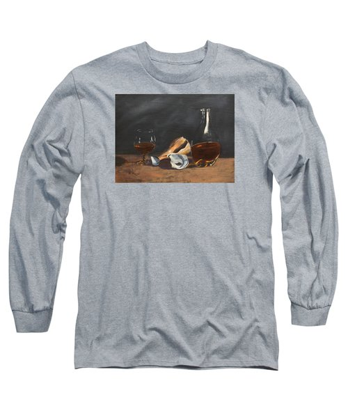 Brandy With Shells Long Sleeve T-Shirt by Alan Mager