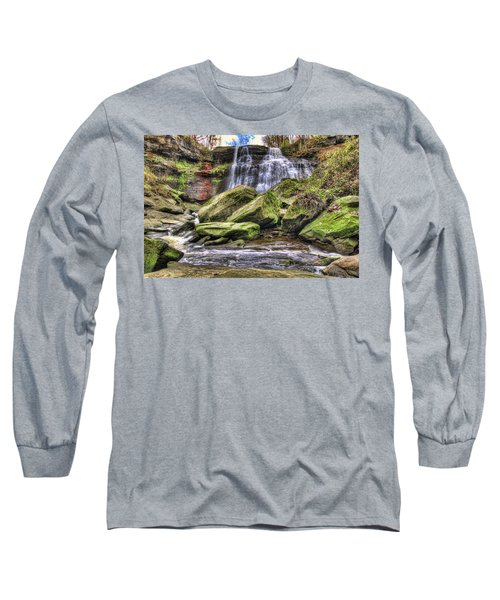Long Sleeve T-Shirt featuring the photograph Brandywine Falls by Brent Durken