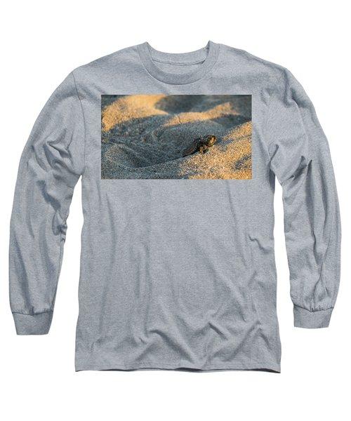 Brave Beginnings Sea Turtle Hatchling Delray Beach Florida Long Sleeve T-Shirt