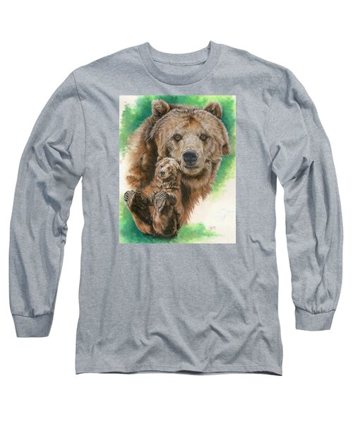 Long Sleeve T-Shirt featuring the painting Brawny by Barbara Keith