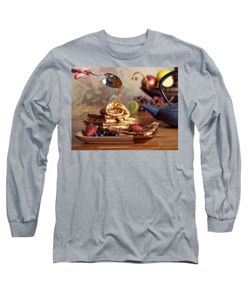 Long Sleeve T-Shirt featuring the photograph Breakfast by Anna Rumiantseva