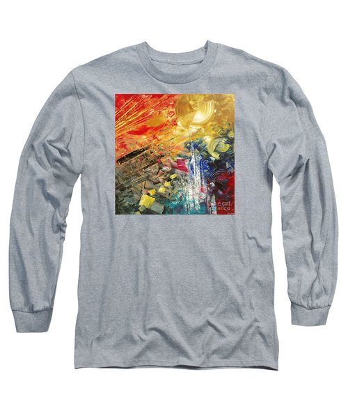 Long Sleeve T-Shirt featuring the painting Breakfast In Vegas by Tatiana Iliina