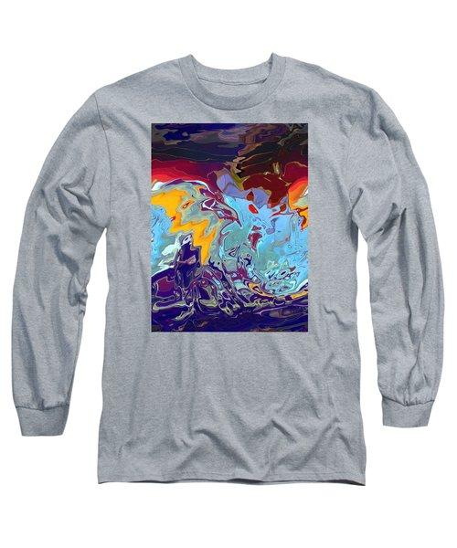 Breaking Waves Long Sleeve T-Shirt by Alika Kumar