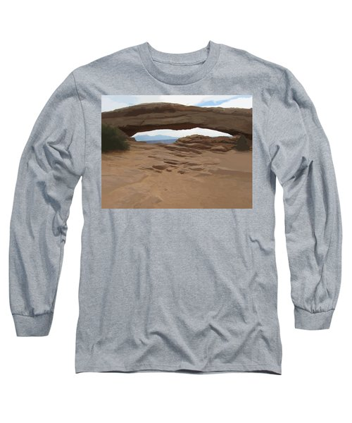 Long Sleeve T-Shirt featuring the digital art Breezy Bridge by Gary Baird