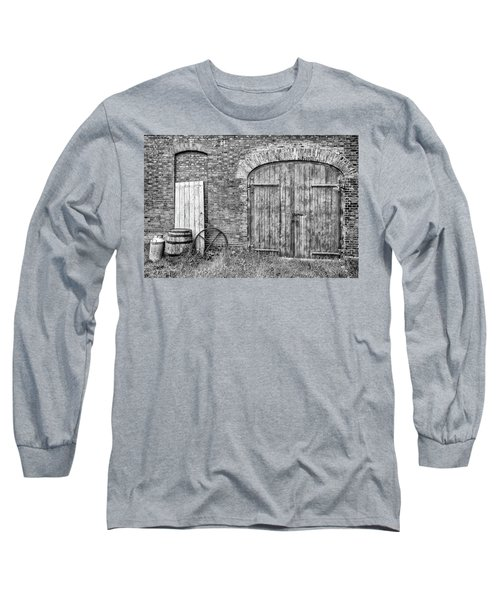 Long Sleeve T-Shirt featuring the photograph Brewhouse Door by Nick Bywater