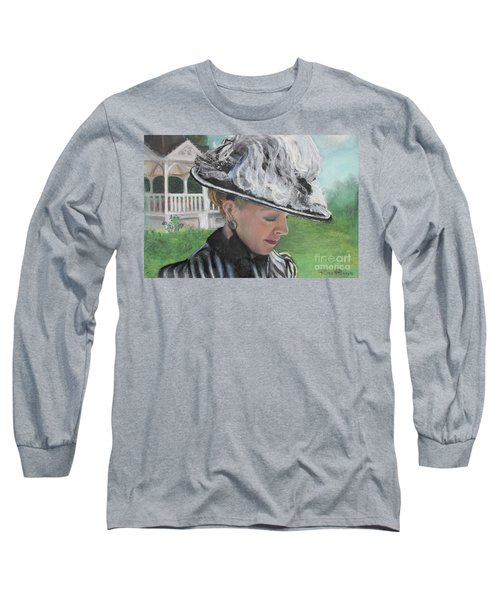 Long Sleeve T-Shirt featuring the pastel Brick City Days by Robin Maria Pedrero
