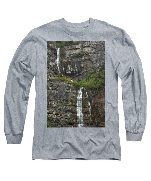 Bridal Veil Falls Provo Canyon Utah Fine Art Photograph Long Sleeve T-Shirt