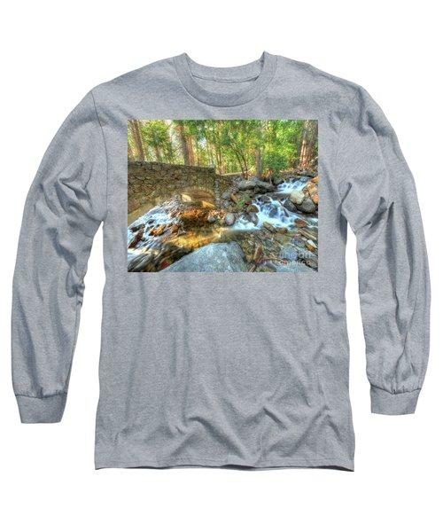 Bridalveil Creek At Yosemite By Michael Tidwell Long Sleeve T-Shirt