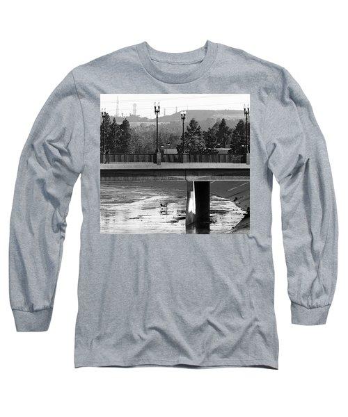 Bridge And Shopping Cart Long Sleeve T-Shirt