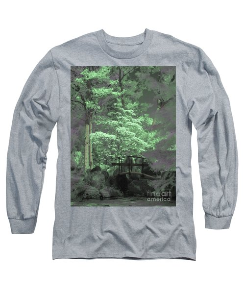Bridge At Clark Gardens Long Sleeve T-Shirt