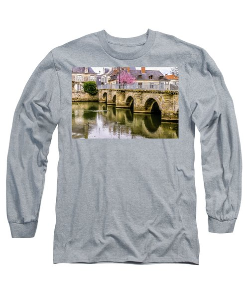 Bridge In The Loir Valley, France Long Sleeve T-Shirt