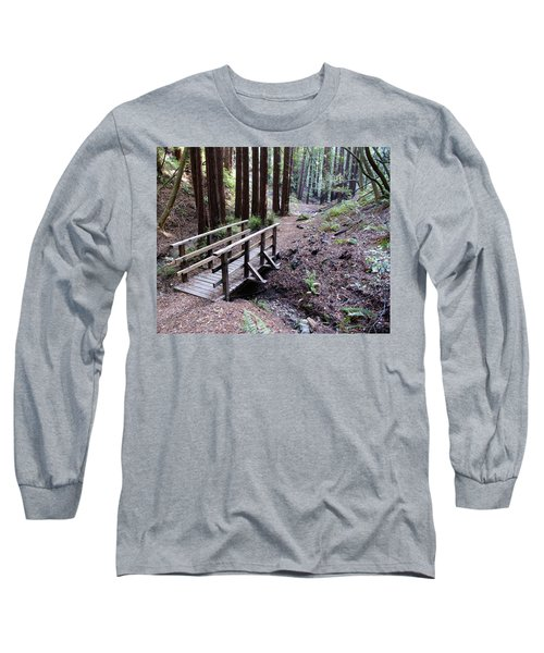 Bridge In The Redwoods Long Sleeve T-Shirt
