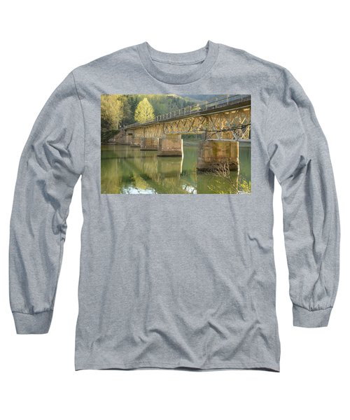 Bridge Over Calm Water Long Sleeve T-Shirt