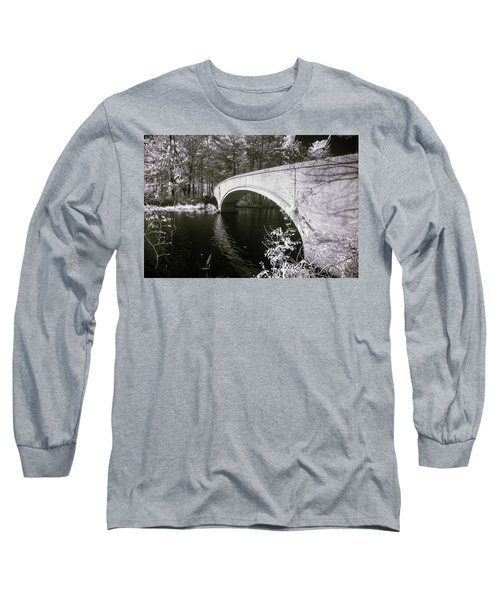 Bridge Over Infrared Waters Long Sleeve T-Shirt