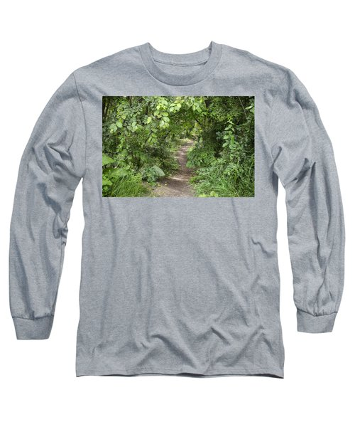 Bright Path In Leafy Forest Long Sleeve T-Shirt
