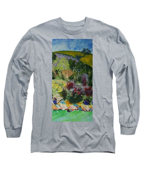 Brightly Colored Devon Landscape - Dartmouth England Long Sleeve T-Shirt