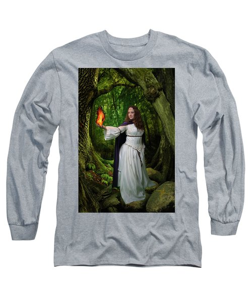 Brigid Long Sleeve T-Shirt by David Clanton