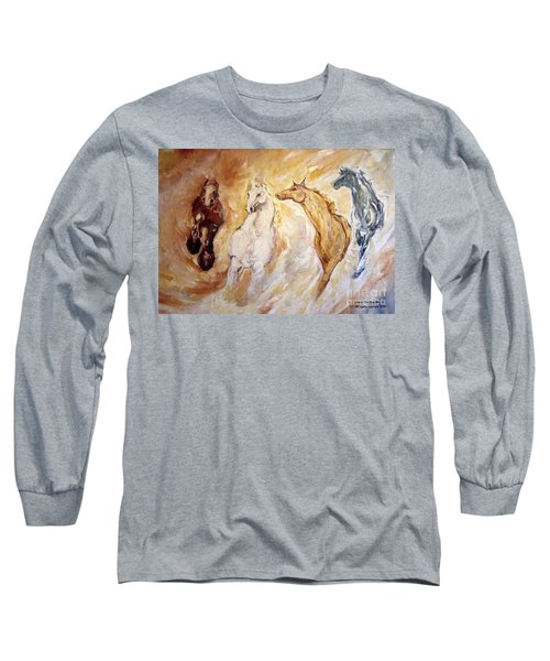 Bringers Of The Dawn Section Of Mural Long Sleeve T-Shirt
