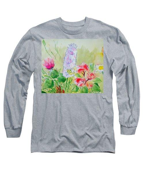 British Wild Flowers Long Sleeve T-Shirt
