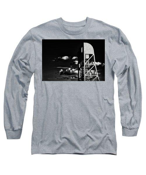 Broadway Bridge Abstract 5 Monochrome Long Sleeve T-Shirt