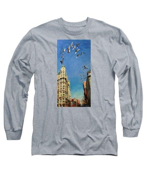 Broadway Pigeons No. 1 Long Sleeve T-Shirt