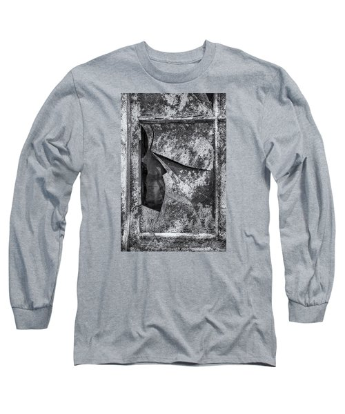 Long Sleeve T-Shirt featuring the photograph Broken Window by Tom Singleton