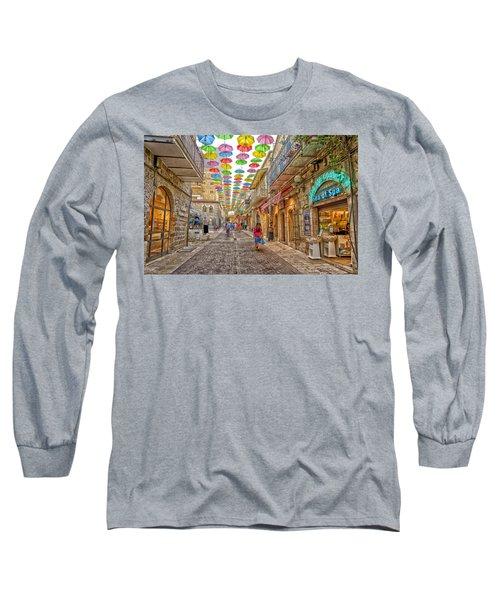 Brollies Over Jerusalem Long Sleeve T-Shirt