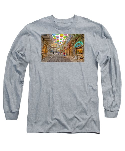 Brollies Over Jerusalem Long Sleeve T-Shirt