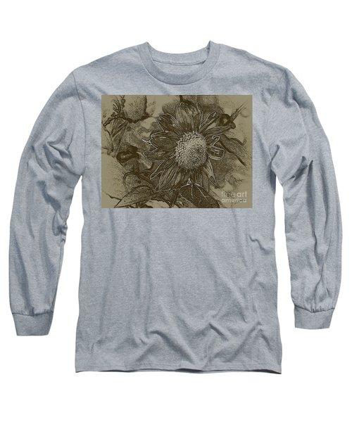 Bronzed Out Sunflower Long Sleeve T-Shirt
