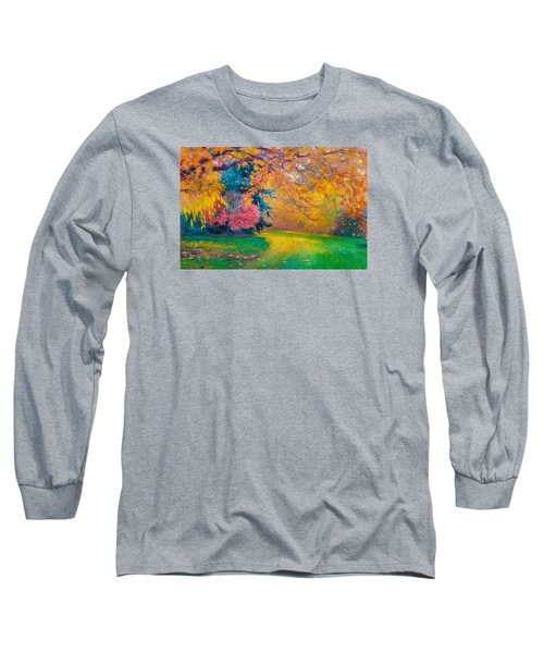 Brook Forest Garden At Fall Long Sleeve T-Shirt