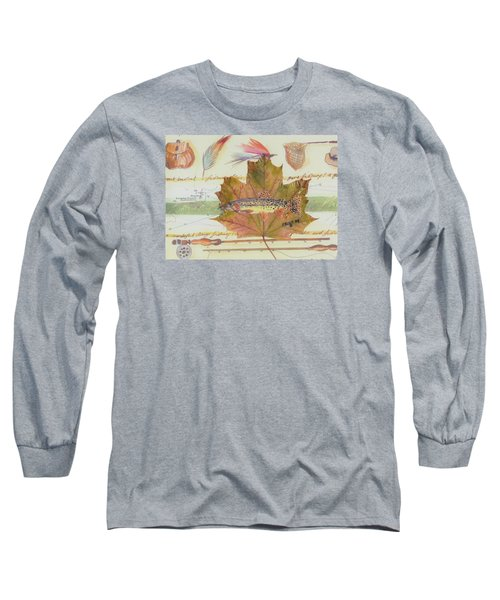 Brook Trout On Fly #2 Long Sleeve T-Shirt by Ralph Root