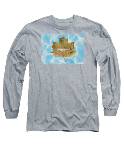 Brook Trout On Fly Long Sleeve T-Shirt by Ralph Root