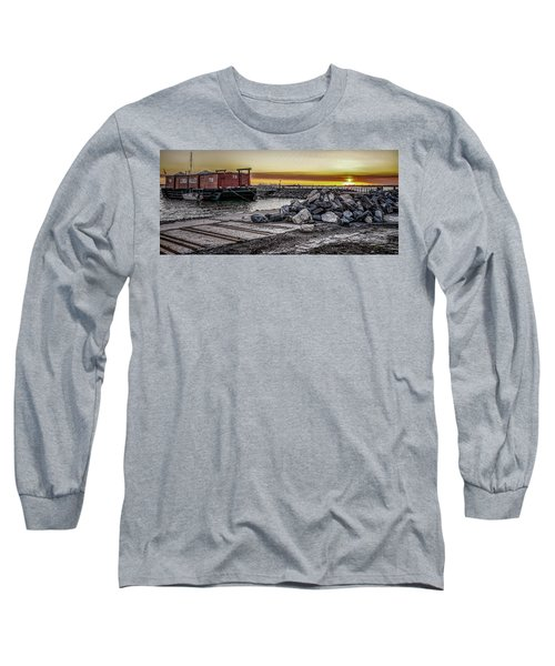 Brooklyn Waterfront Sunset Long Sleeve T-Shirt