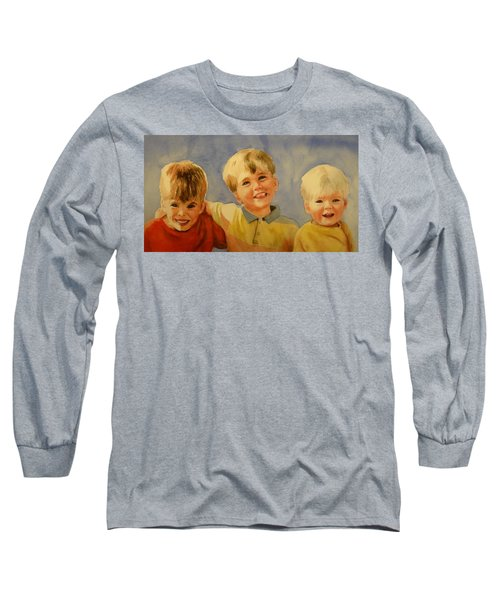 Long Sleeve T-Shirt featuring the painting Brothers by Marilyn Jacobson