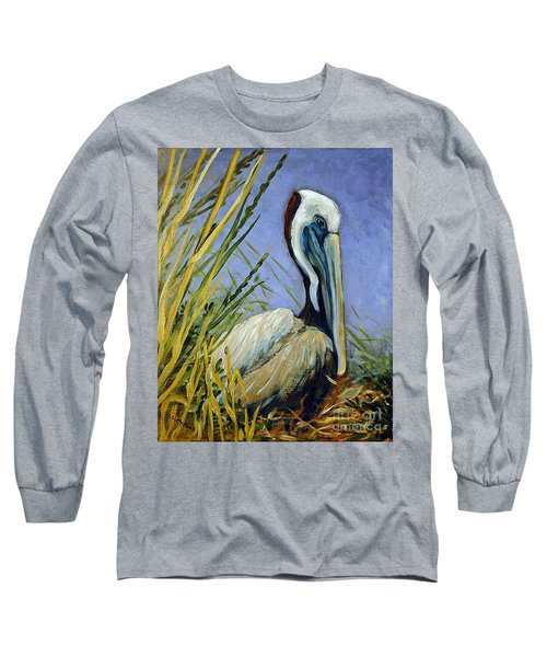 Long Sleeve T-Shirt featuring the painting Brownie Nesting by Suzanne McKee