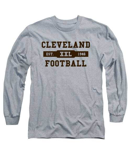 Browns Retro Shirt Long Sleeve T-Shirt by Joe Hamilton