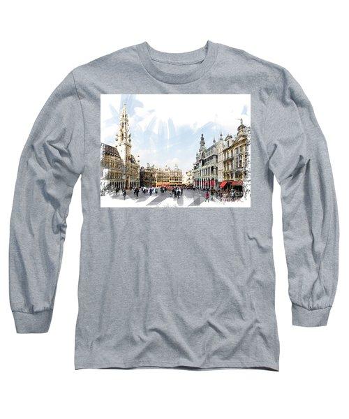 Brussels Grote Markt  Long Sleeve T-Shirt