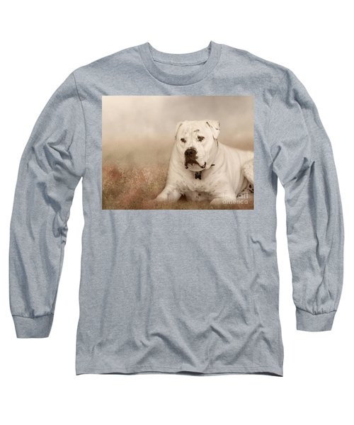 Long Sleeve T-Shirt featuring the photograph Brutus Dreaming by Elaine Teague