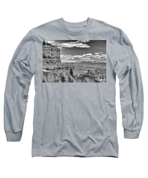 Bryce Canyon In Black And White Long Sleeve T-Shirt