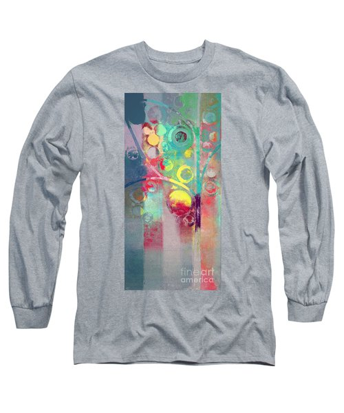 Long Sleeve T-Shirt featuring the painting Bubble Tree - 285l by Variance Collections